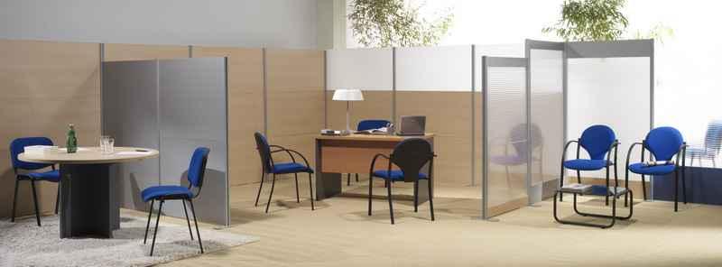 Biombos de oficina mamparas for Separadores de oficina